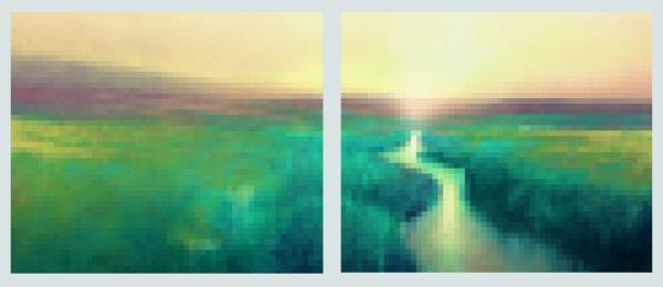 MAU Pixelated Image